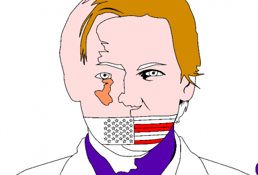 Assange Colored