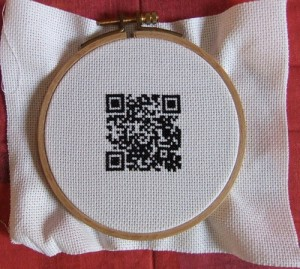 Cross-stitched QR Code