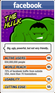 Facebook Hulk Trump Card