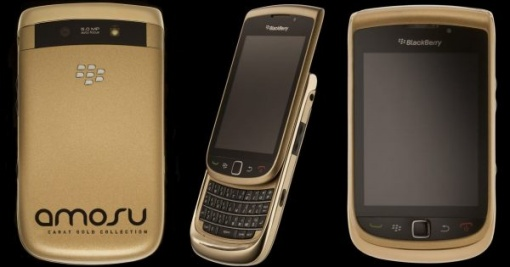 £8,000 Solid Gold Blackberry Torch handset
