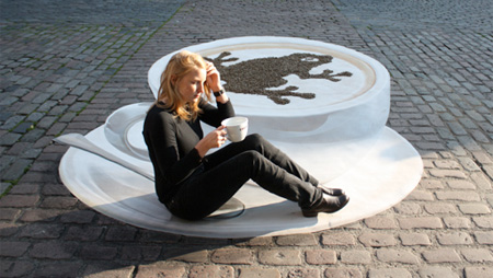 3D Street Art Coffee