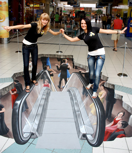 3D Street Art Escalator