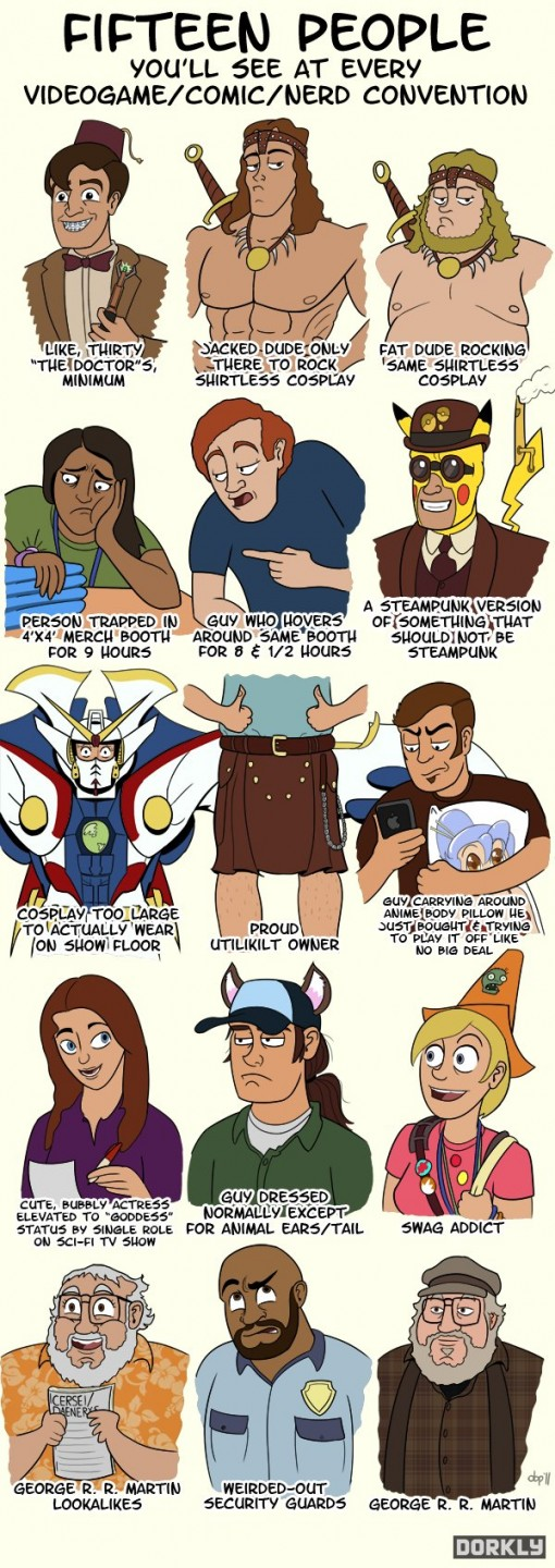 Nerd Convention Characters