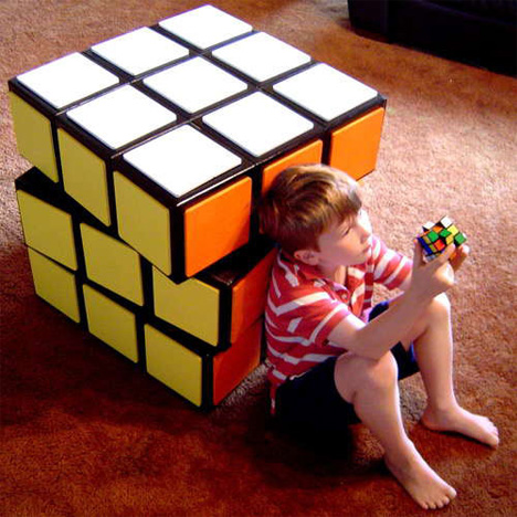 Rubik's Cube Chest of Drawers Scale