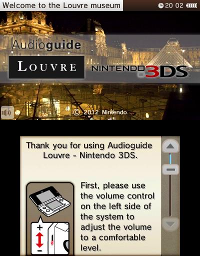 Louvre 3DS Audio Guide