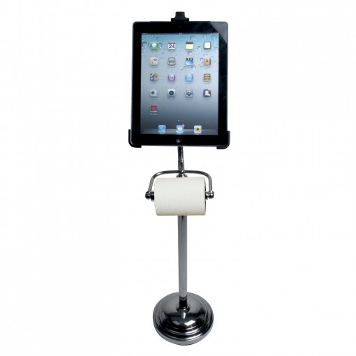 iPad stand and tissue holder portrait