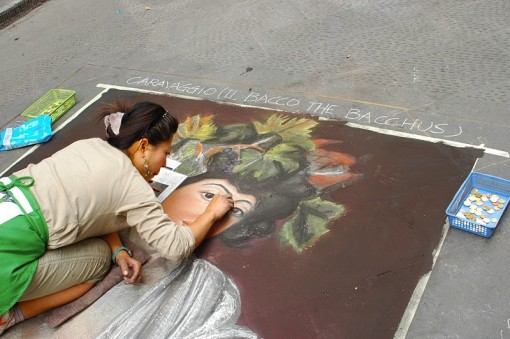 woman-doing-art-on-sidewalk