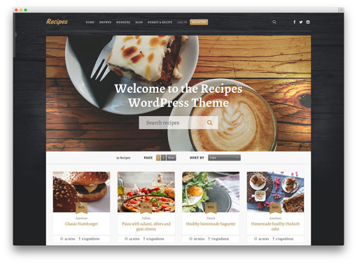 recipes-sharing-wordpress-template